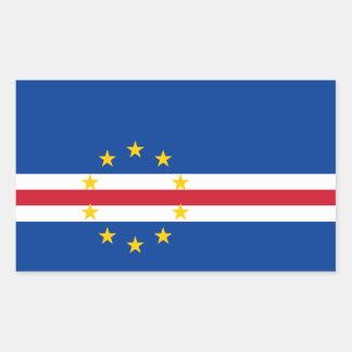 Bandera de Cabo Verde/Verdian/Verdean Pegatina Rectangular