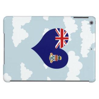Bandera de Caimán en un fondo nublado Funda Para iPad Air