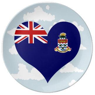 Bandera de Caimán en un fondo nublado