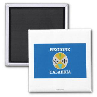 Bandera de Calabria Imán Cuadrado