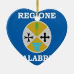 Bandera de Calabria (Italia) Adorno Para Reyes