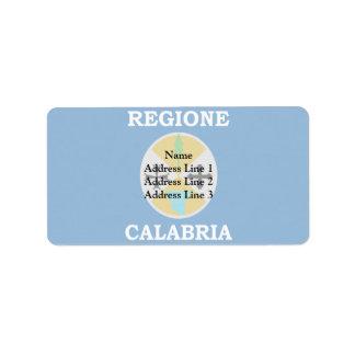 Bandera de Calabria, Italia Etiquetas De Dirección
