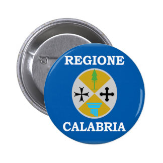 Bandera de Calabria (Italia) Pin Redondo 5 Cm