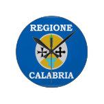 Bandera de Calabria (Italia) Reloj De Pared
