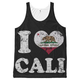 Bandera de Cali California del corazón del vintage