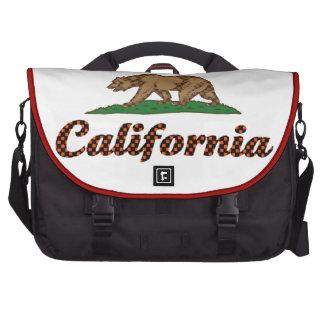 Bandera de California A cuadros-Hacia fuera Bolsas De Portatil