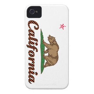 Bandera de California A cuadros-Hacia fuera Case-Mate iPhone 4 Cárcasas