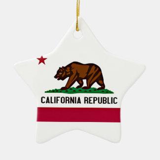 Bandera de California Adorno Navideño De Cerámica En Forma De Estrella