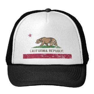 Bandera de California apenada Gorros Bordados