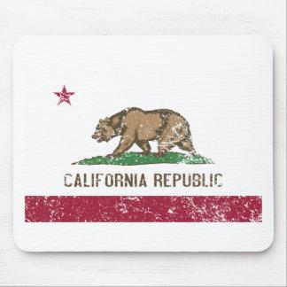 Bandera de California apenada Alfombrilla De Ratón