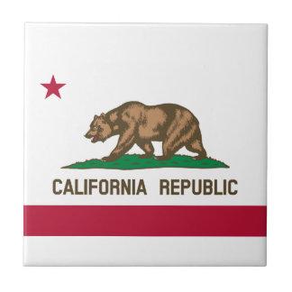 Bandera de California Azulejo Cuadrado Pequeño