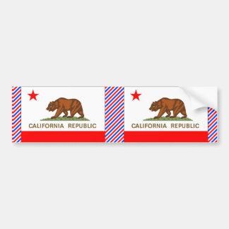 Bandera de California Etiqueta De Parachoque