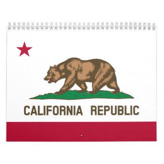 Bandera de California Calendario De Pared