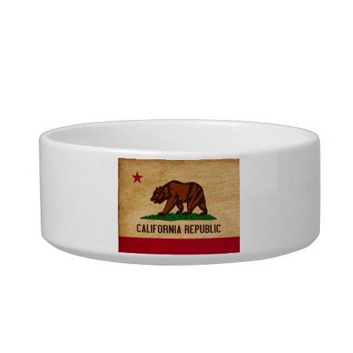 Bandera de California Tazones Para Comida Para Gato