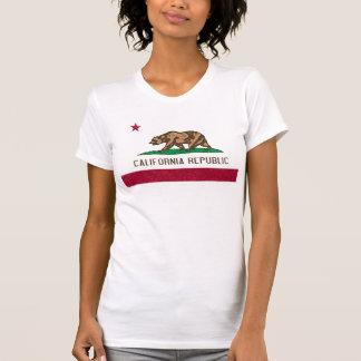 Bandera de California de la pintura de la esponja Camiseta