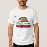 bandera de California de los robles del paso Playeras