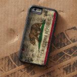 Bandera de California del Grunge del vintage Funda De iPhone 6 Tough Xtreme