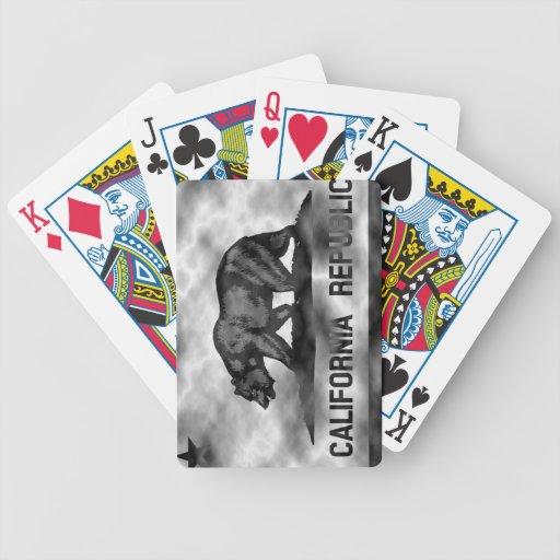 Bandera de California del plasma Baraja Cartas De Poker