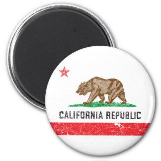 Bandera de California del vintage Imán Redondo 5 Cm