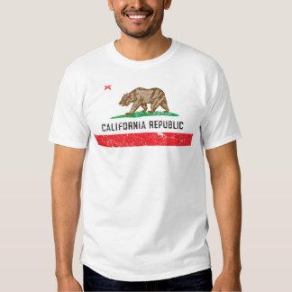 Bandera de California del vintage Playera