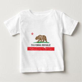 Bandera de California del vintage Remera