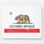 Bandera de California del vintage Alfombrillas De Ratón