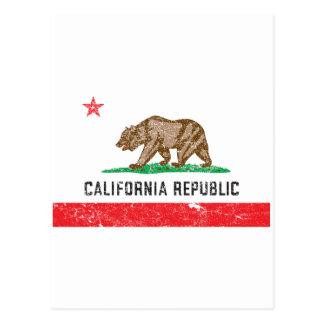 Bandera de California del vintage Postal