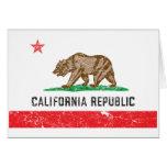Bandera de California del vintage Tarjetas