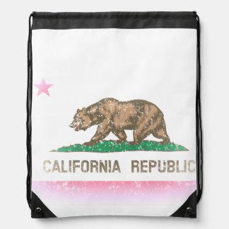 Bandera de California desteñida vintage Mochila