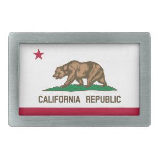 Bandera de California Hebillas De Cinturon Rectangulares