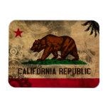 Bandera de California Imán Rectangular