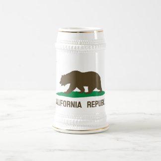 Bandera de California Jarra De Cerveza