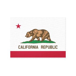 Bandera de California Impresión En Lona Estirada