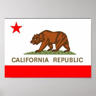 Bandera de California Impresiones