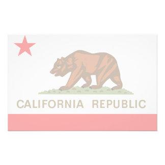 Bandera de California Papelería