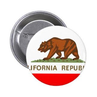 Bandera de California Pin Redondo De 2 Pulgadas