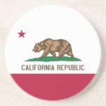 Bandera de California Posavasos De Arenisca