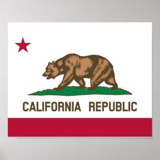 Bandera de California Póster
