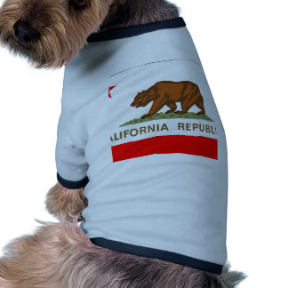 Bandera de California Camisetas De Mascota