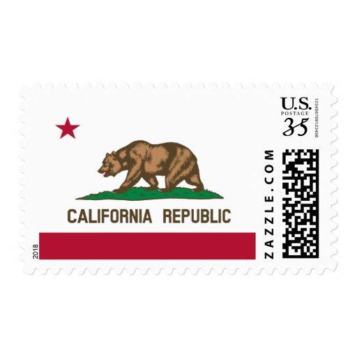 Bandera de California Sellos Postales