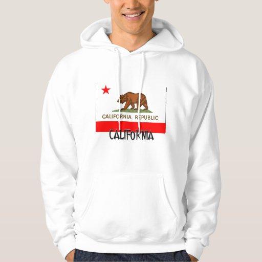 Bandera de California Sudadera Con Capucha