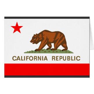 Bandera de California Tarjeta