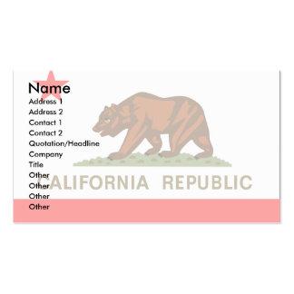 Bandera de California Tarjetas Personales