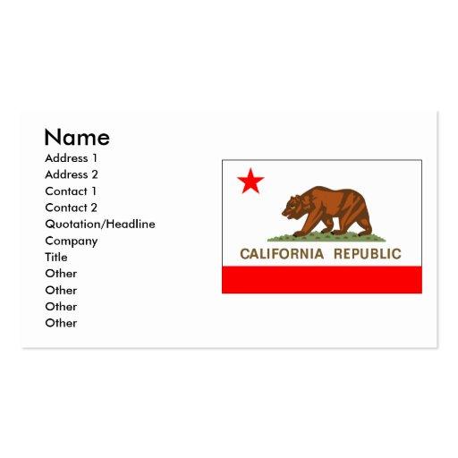 Bandera de California Plantilla De Tarjeta Personal