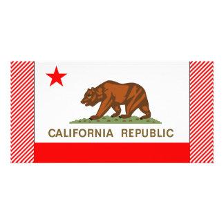 Bandera de California Tarjetas Con Fotos Personalizadas