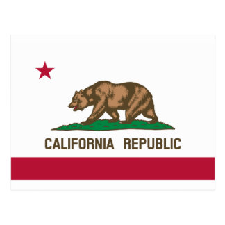 Bandera de California Tarjetas Postales