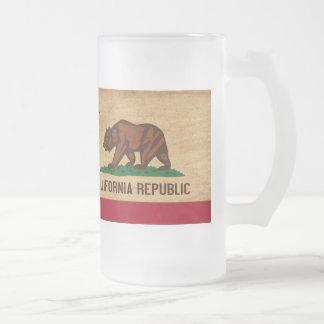 Bandera de California Taza Cristal Mate