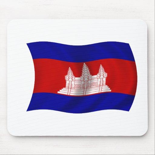 Bandera de Camboya Alfombrillas De Ratón