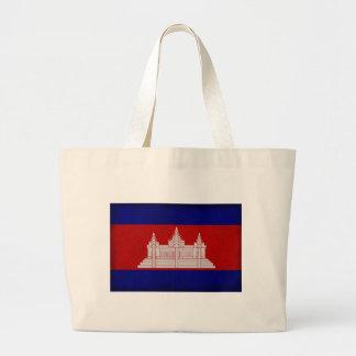 Bandera de Camboya Bolsa Tela Grande
