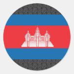 Bandera de Camboya Etiqueta